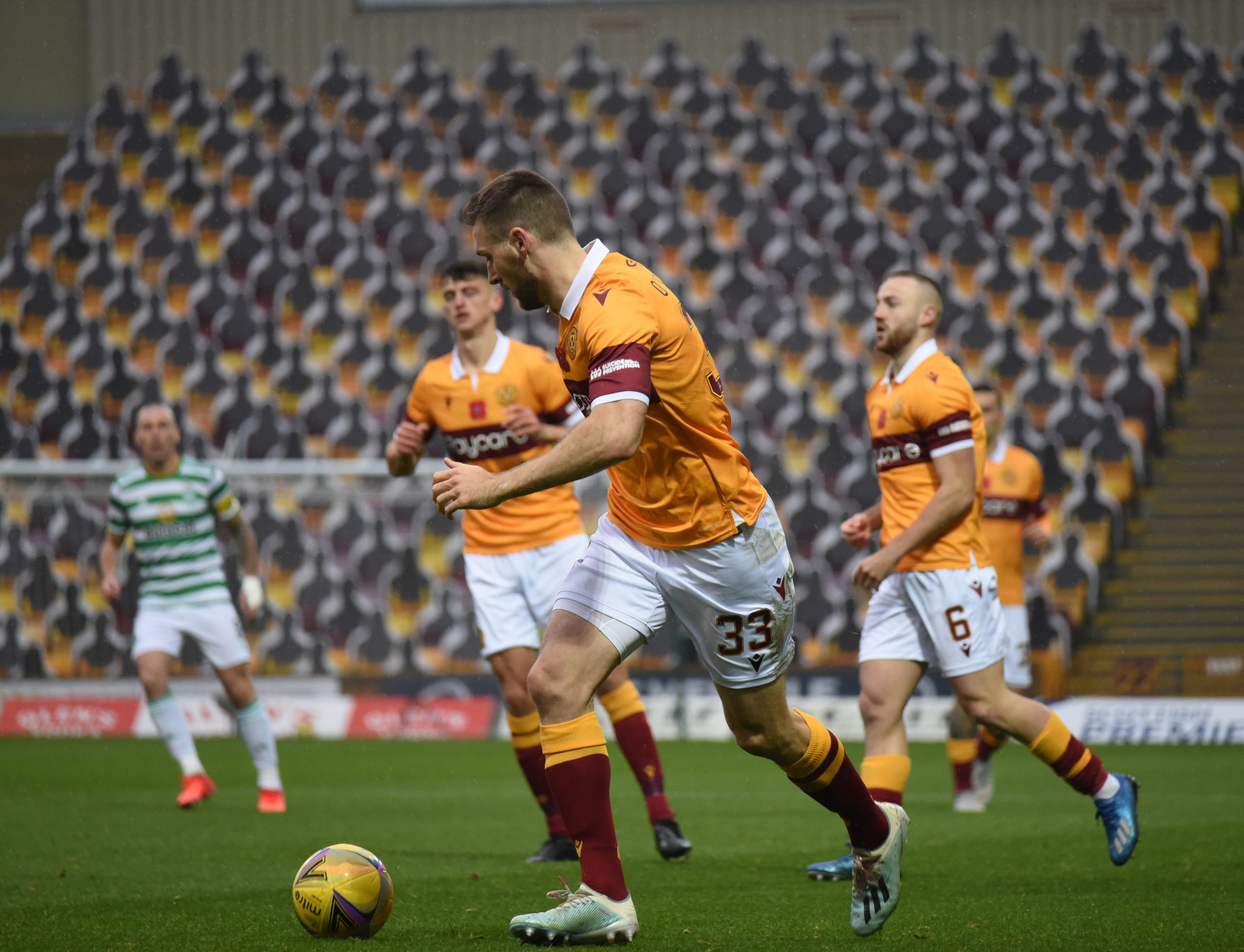 Motherwell v Celtic , 8 November 2020 , Scottish Premiership, photograph by David Rankin , News Pictures Scotland