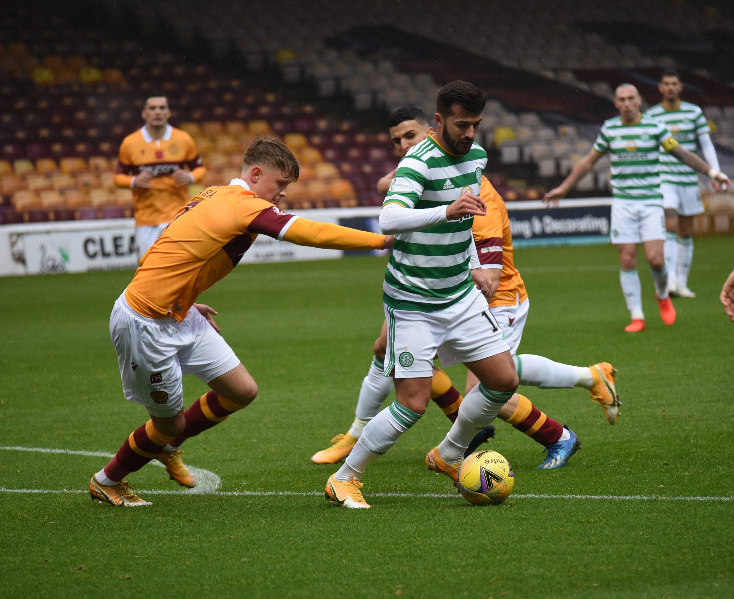 Motherwell v Celtic , 8 November 2020 , Scottish Premiership, photograph by David Rankin , News Pictures Scotland , phone 07723-538941 www.newspicturesscotland.co.uk