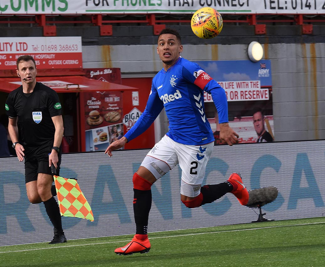 James Tavernier of Rangers , Hamilton v Rangers 24th February 20